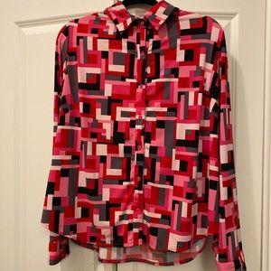 Multi colored Lane Bryant dress shirt